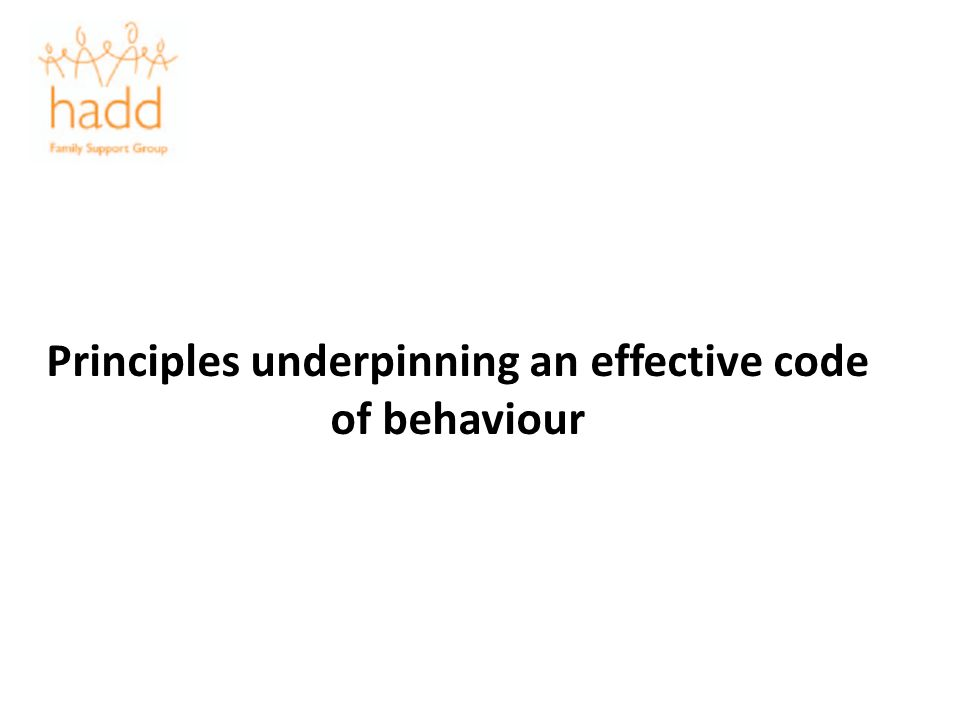 Principles underpinning an effective code