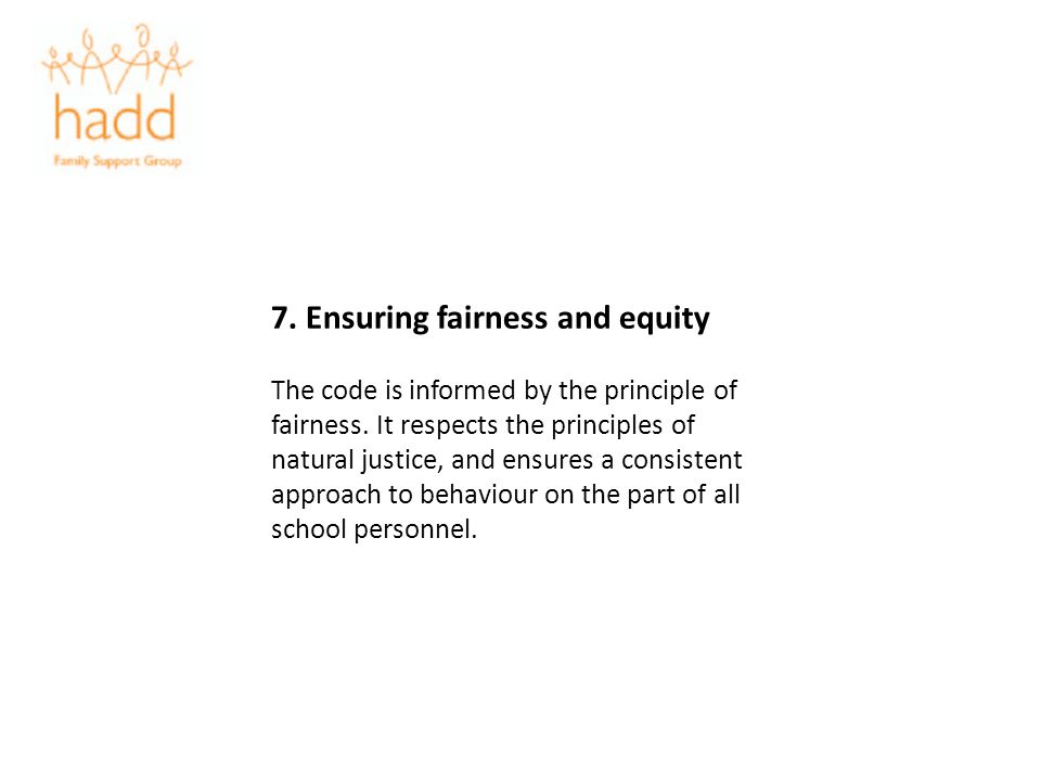 7. Ensuring fairness and equity