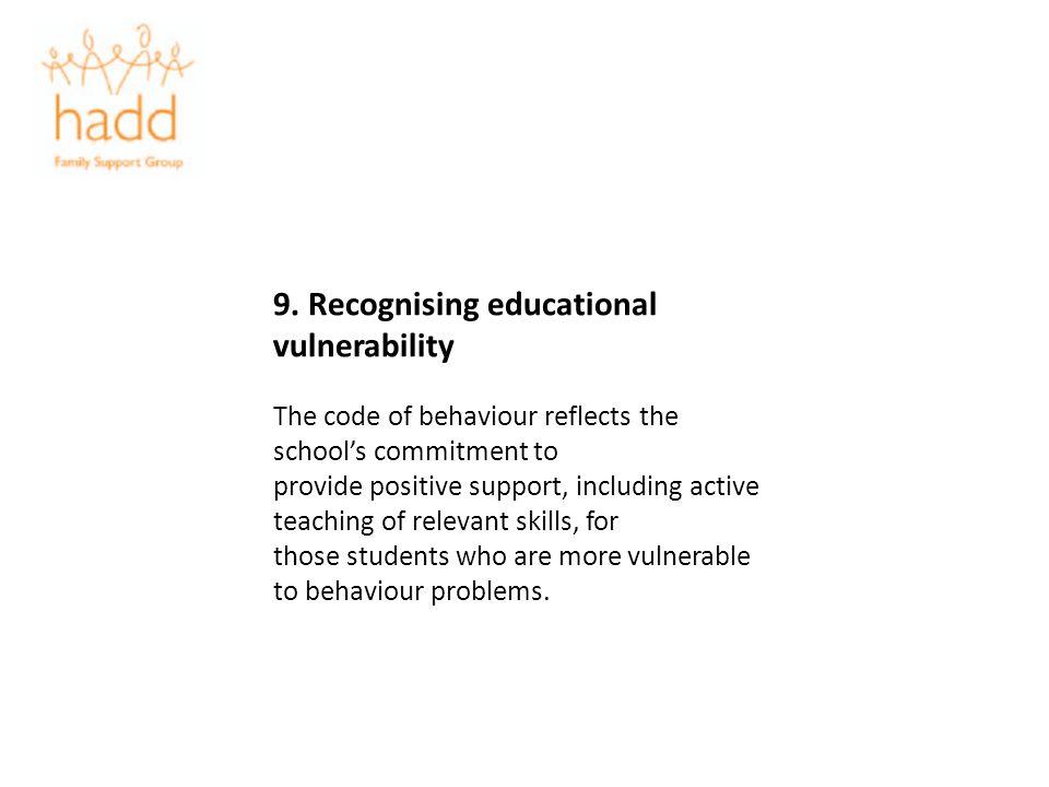 9. Recognising educational vulnerability