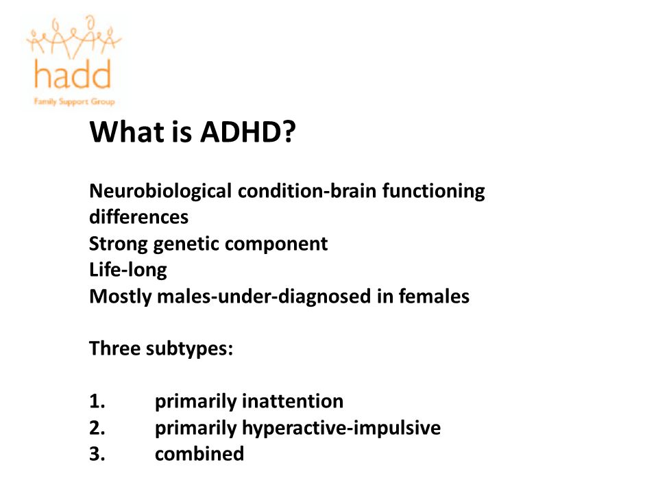 What is ADHD Neurobiological condition-brain functioning differences