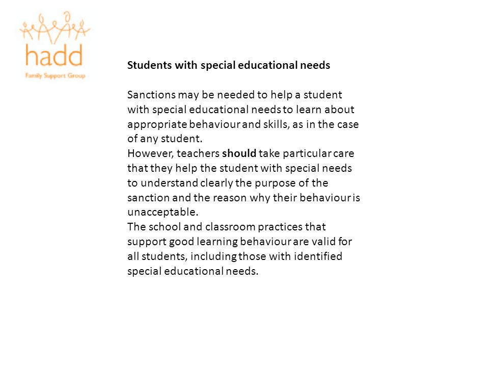 Students with special educational needs
