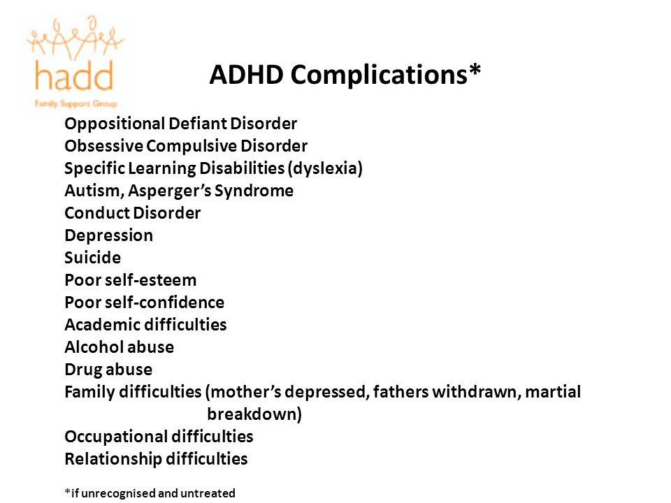 ADHD Complications* Oppositional Defiant Disorder