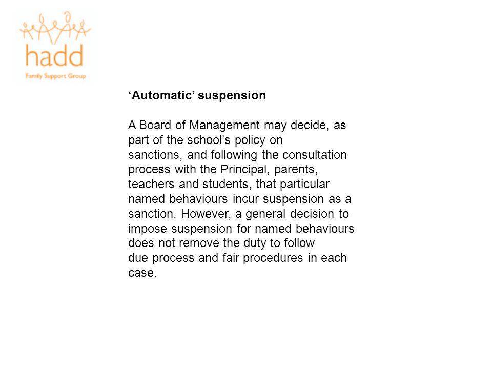'Automatic' suspension