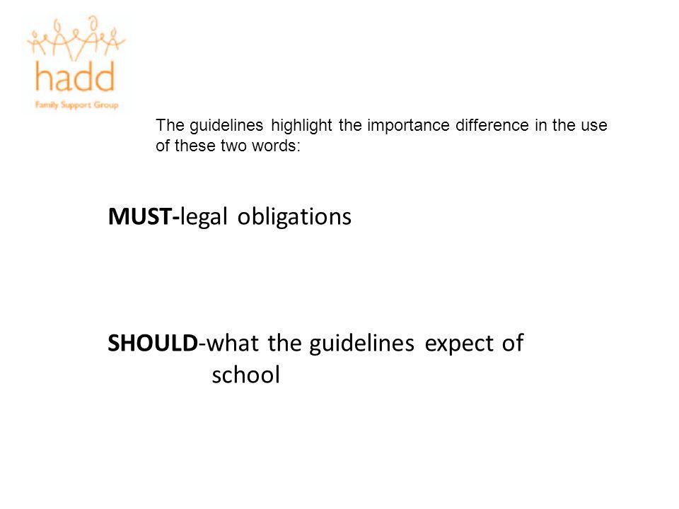 MUST-legal obligations