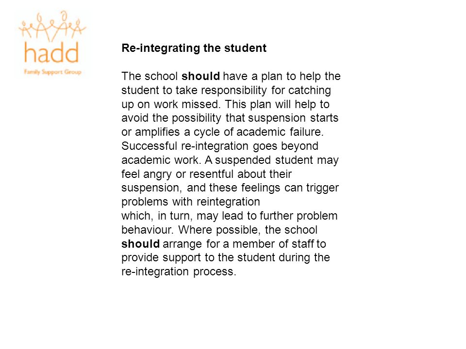 Re-integrating the student