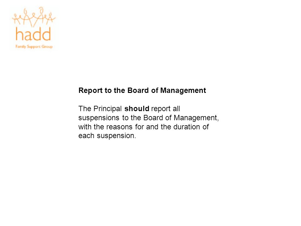 Report to the Board of Management
