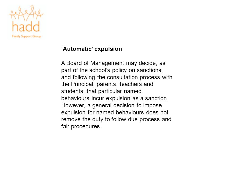'Automatic' expulsion