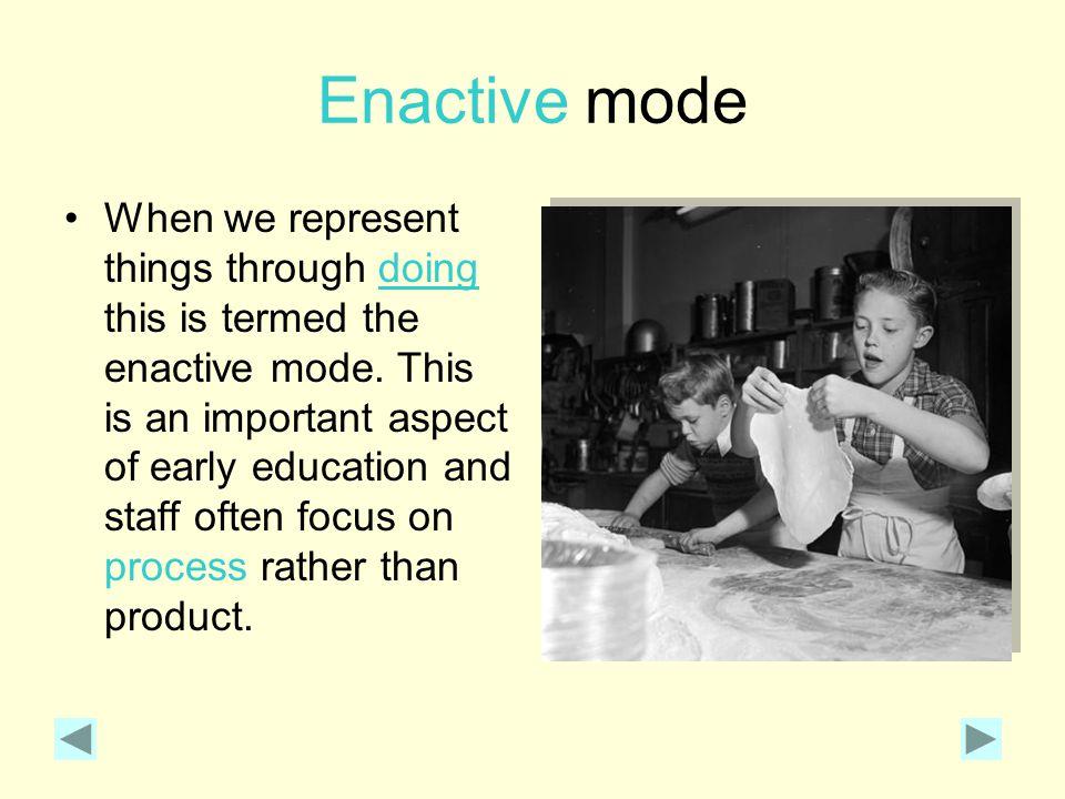 Enactive mode