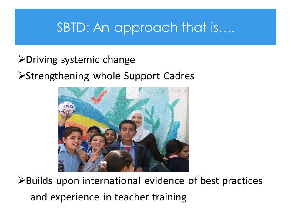 SBTD: An approach that is….