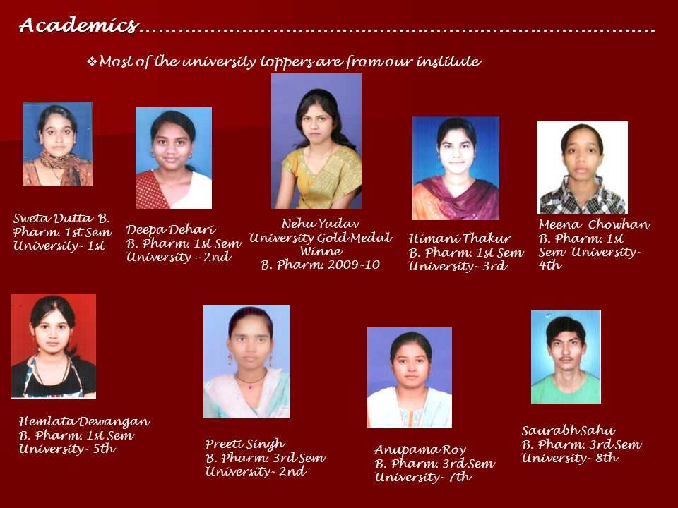 University Gold Medal Winne