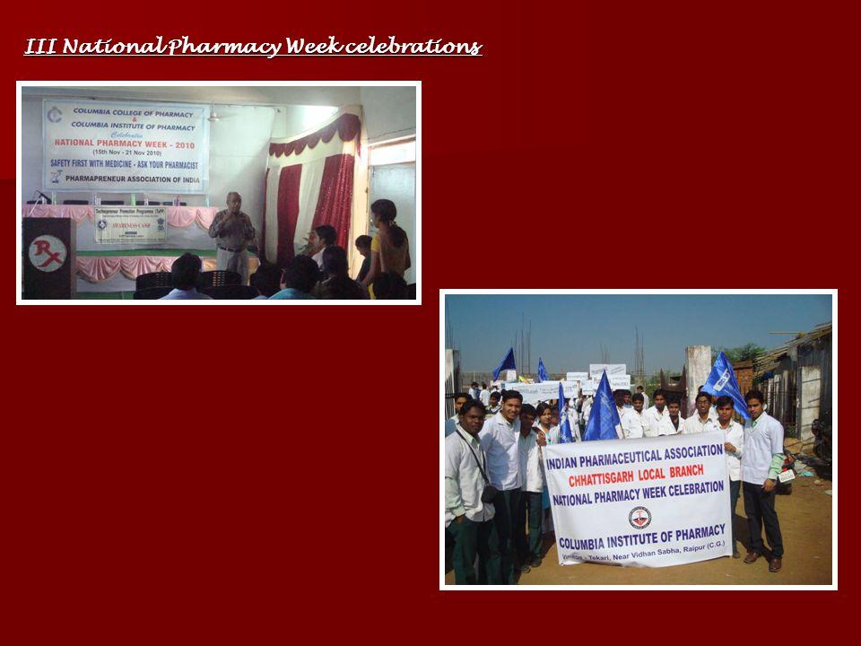 III National Pharmacy Week celebrations