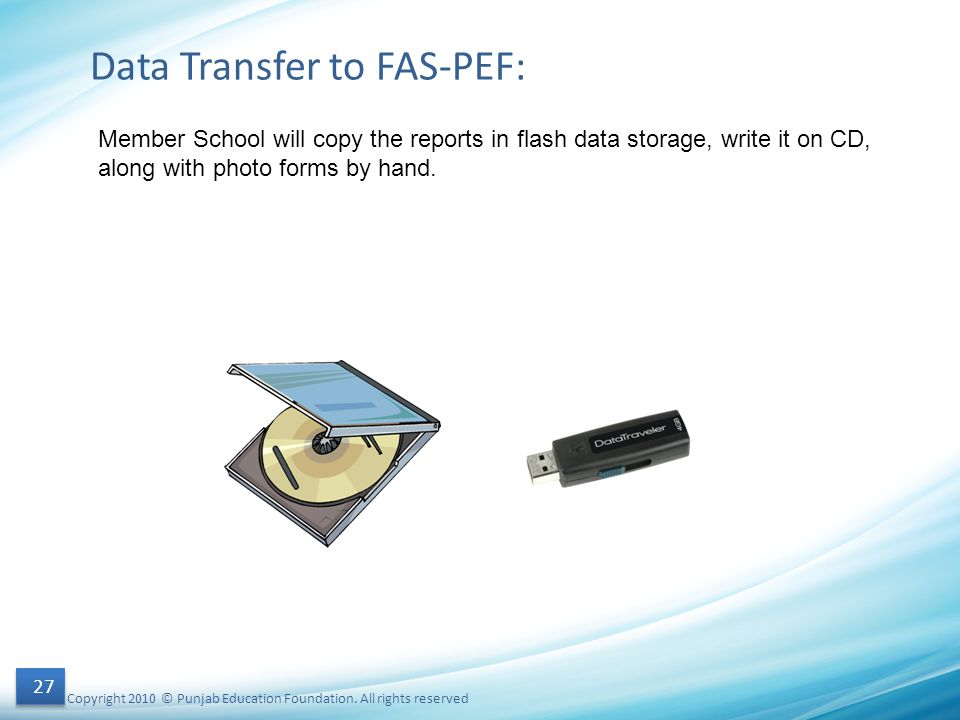 Data Transfer to FAS-PEF: