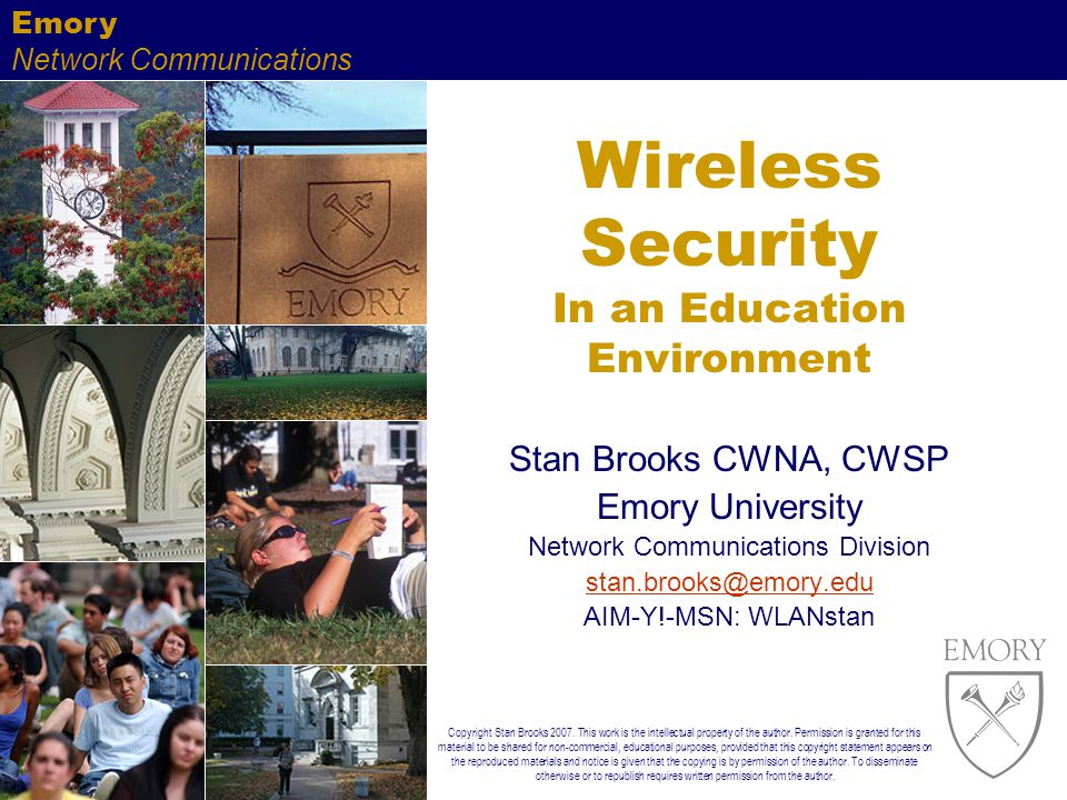 Wireless Security In an Education Environment