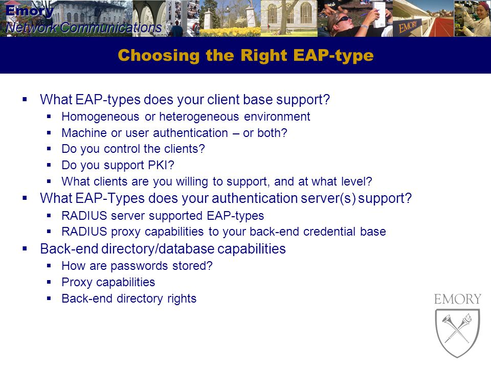Choosing the Right EAP-type