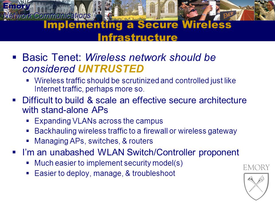 Implementing a Secure Wireless Infrastructure