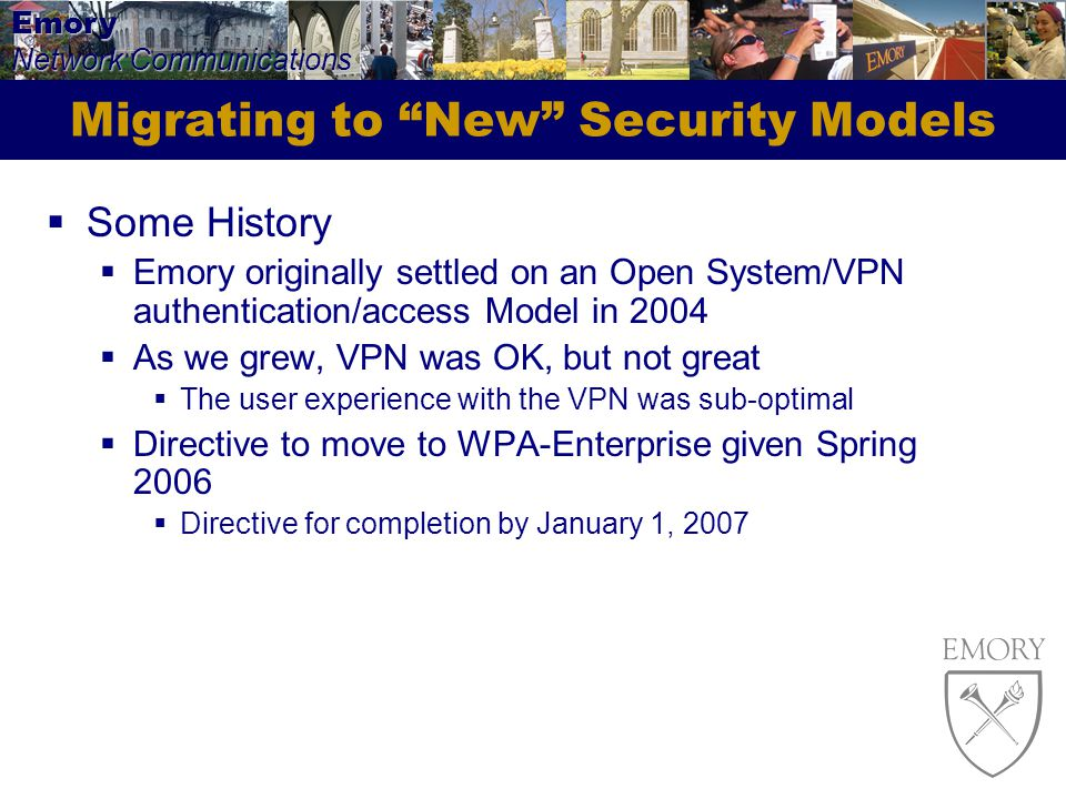 Migrating to New Security Models