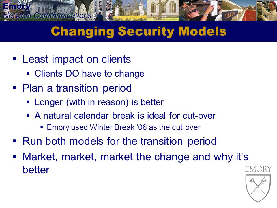 Changing Security Models