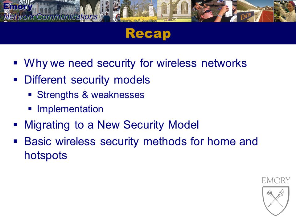 Recap Why we need security for wireless networks
