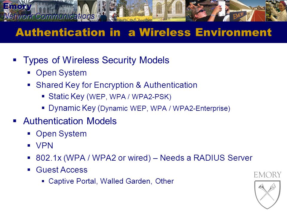 Authentication in a Wireless Environment