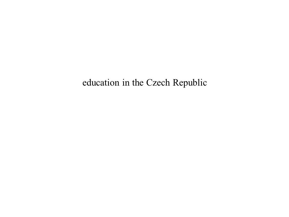 education in the Czech Republic