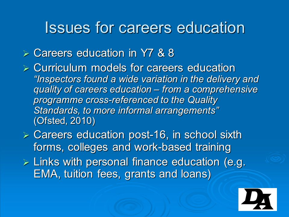 Issues for careers education