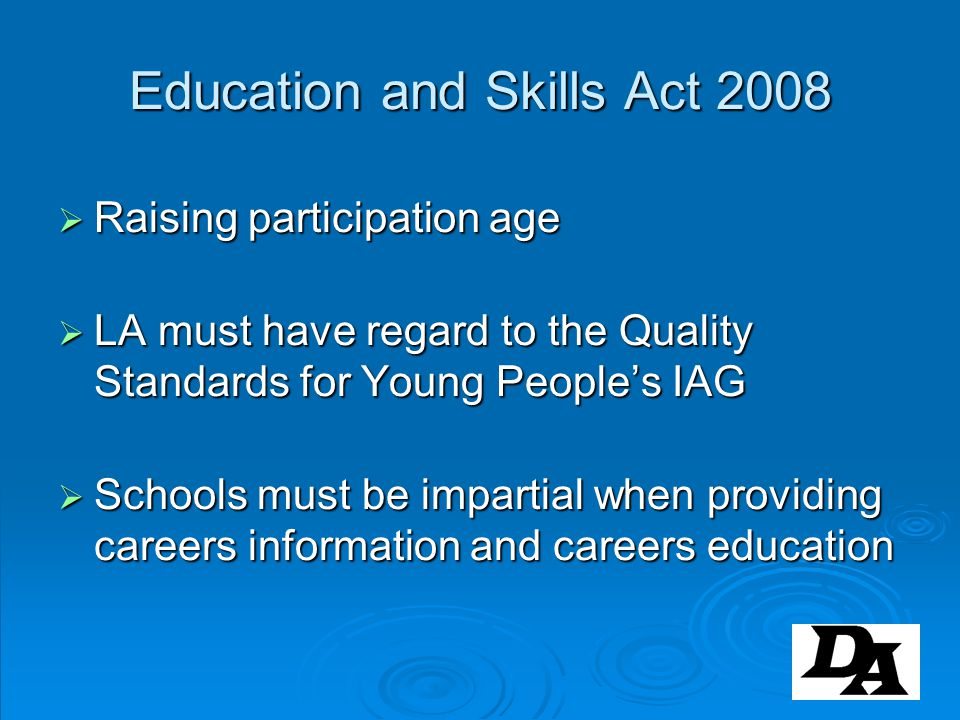 Education and Skills Act 2008
