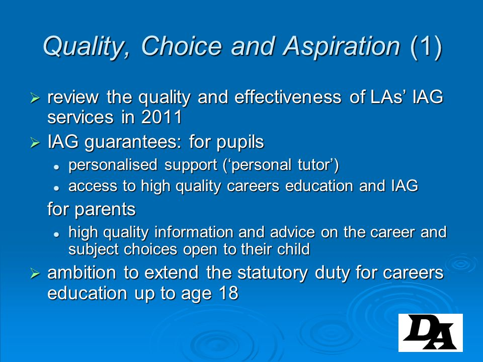 Quality, Choice and Aspiration (1)