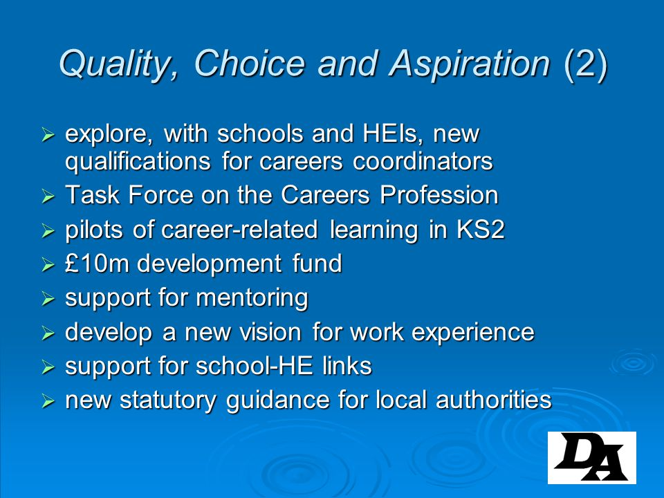 Quality, Choice and Aspiration (2)