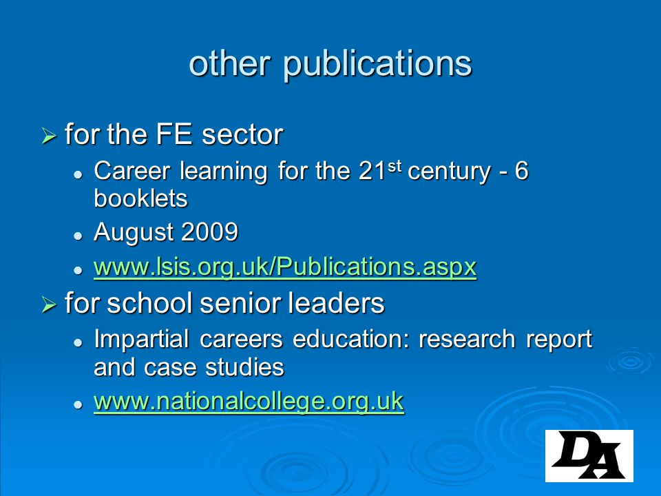 other publications for the FE sector for school senior leaders