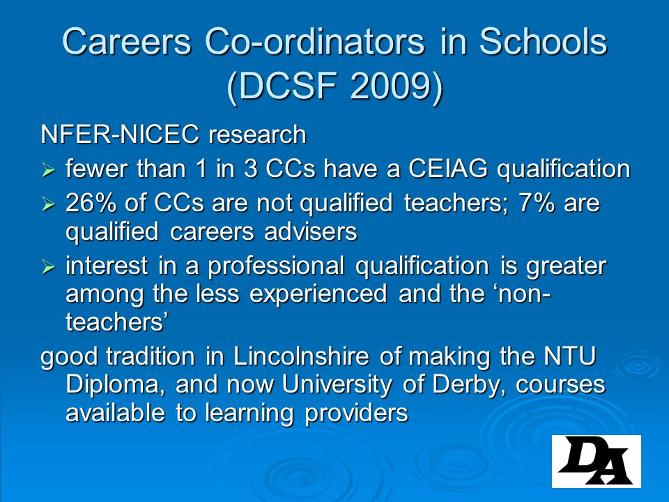 Careers Co-ordinators in Schools (DCSF 2009)