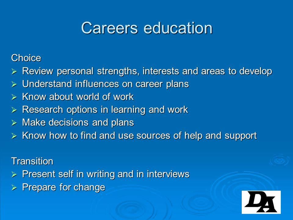 Careers education Choice