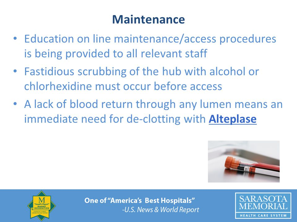 Maintenance Education on line maintenance/access procedures is being provided to all relevant staff.