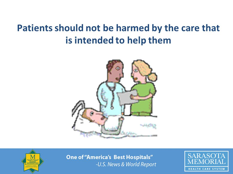 Patients should not be harmed by the care that is intended to help them