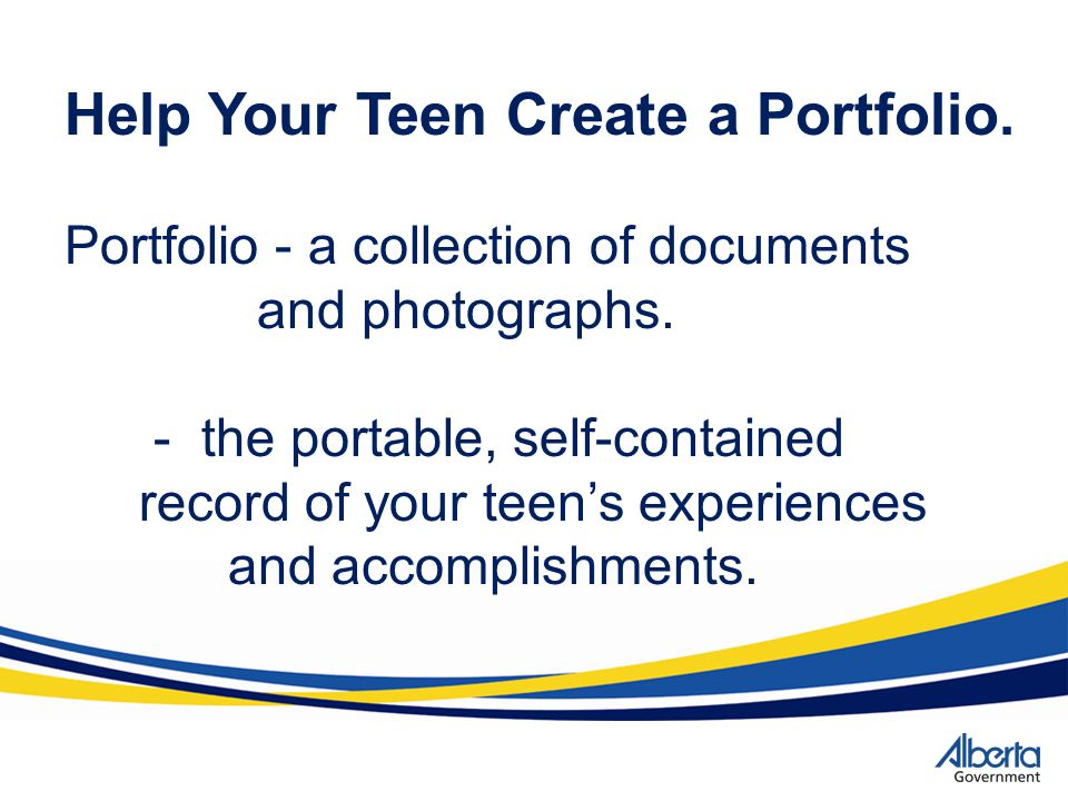 Help Your Teen Create a Portfolio.