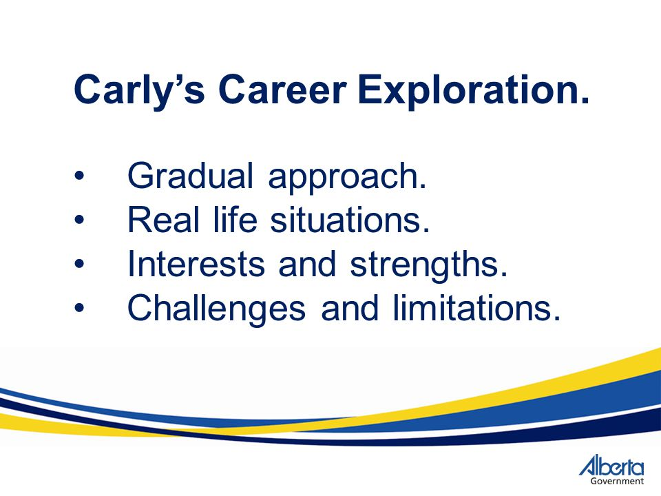 Carly's Career Exploration.
