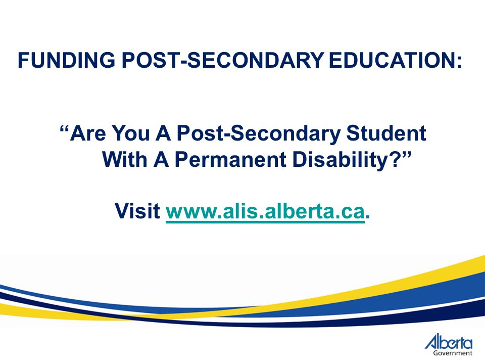 FUNDING POST-SECONDARY EDUCATION: