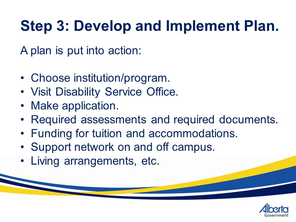 Step 3: Develop and Implement Plan.