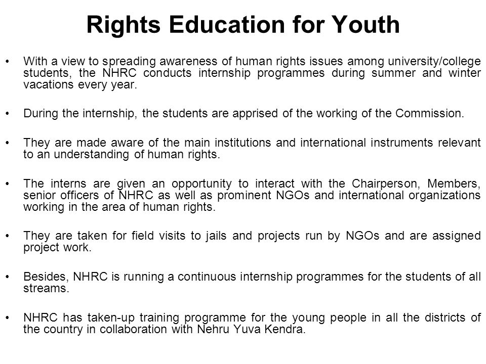 Rights Education for Youth