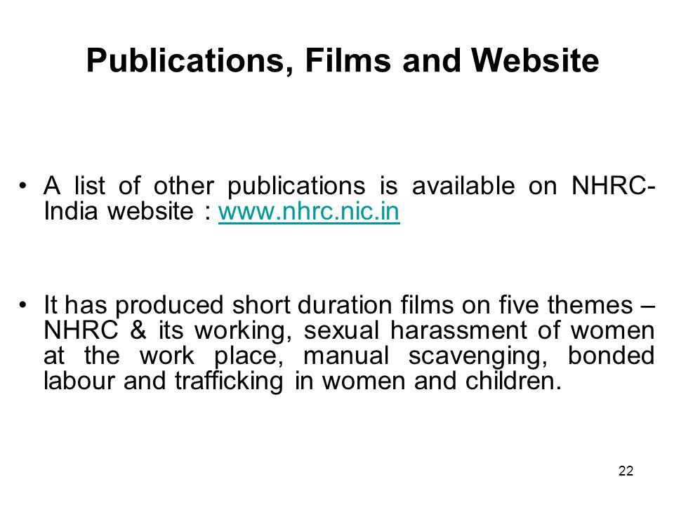 Publications, Films and Website