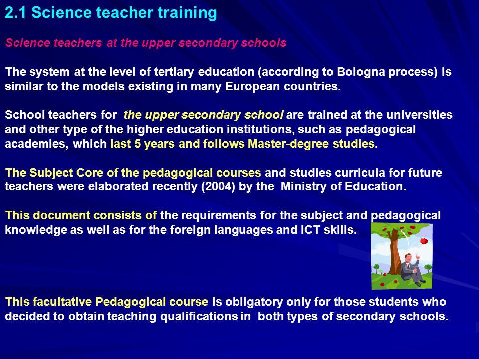 2.1 Science teacher training
