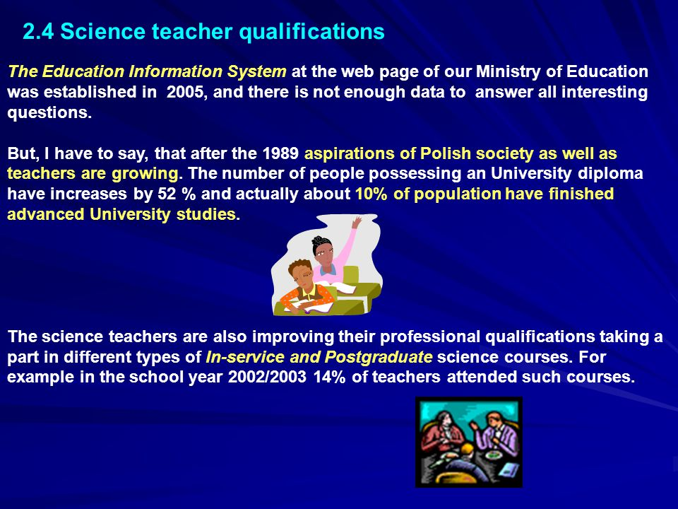 2.4 Science teacher qualifications
