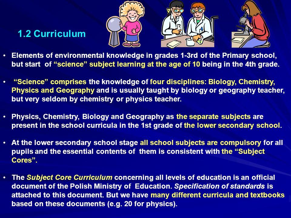 1.2 Curriculum