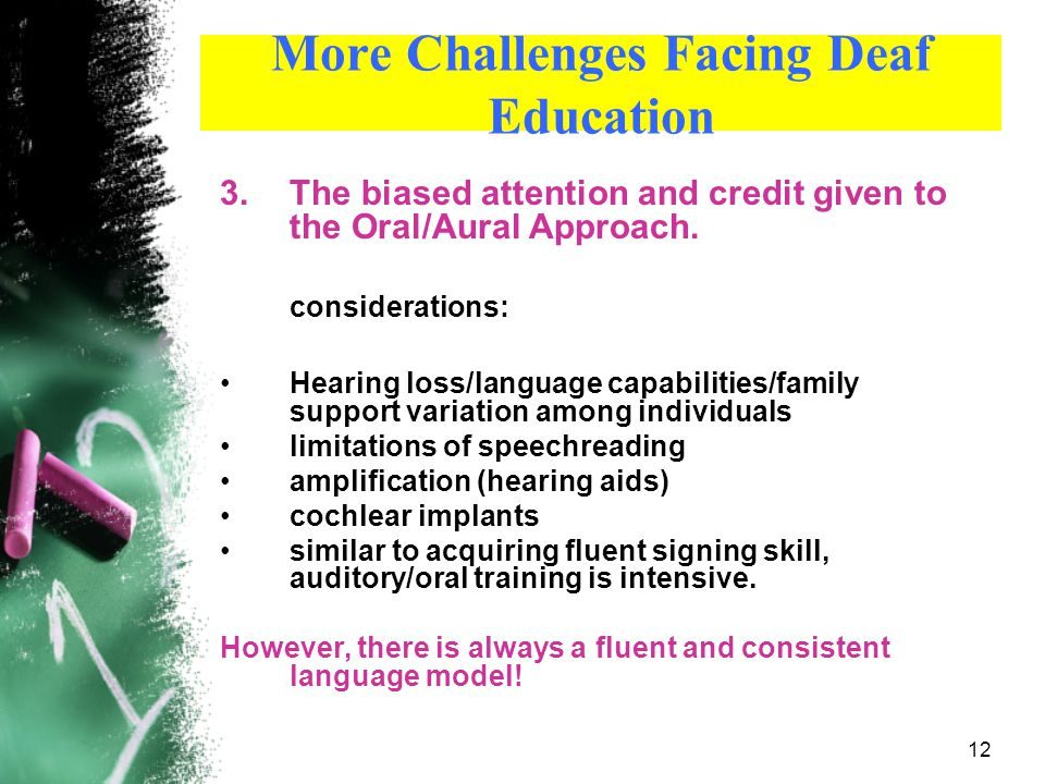 More Challenges Facing Deaf Education