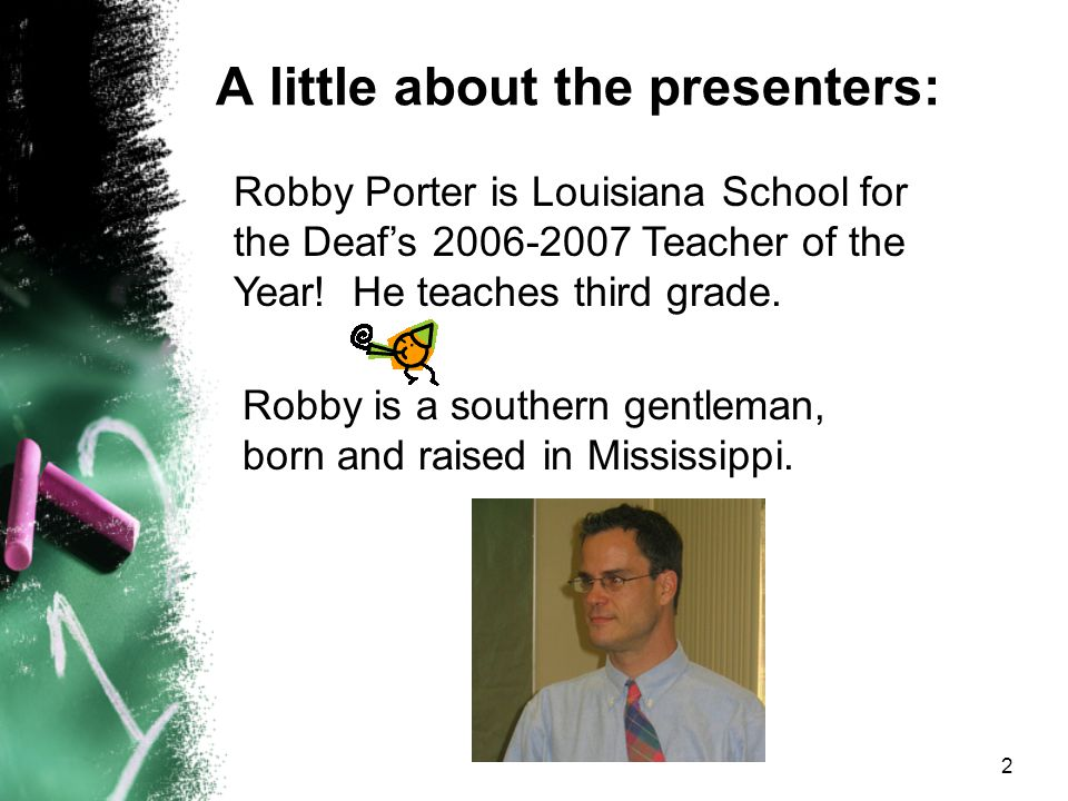 A little about the presenters: