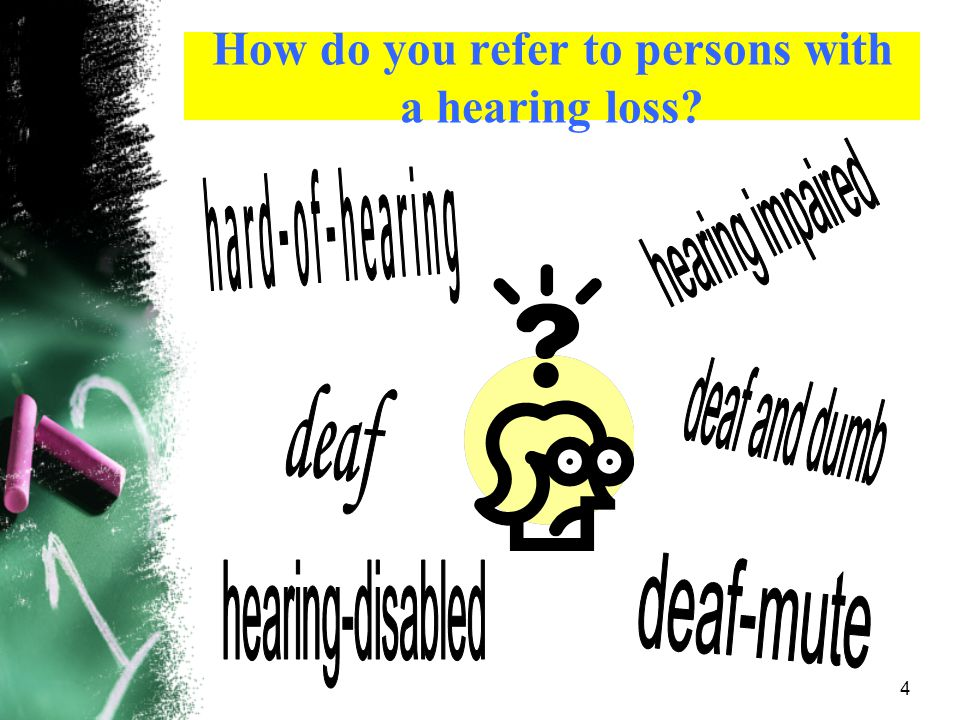 How do you refer to persons with a hearing loss