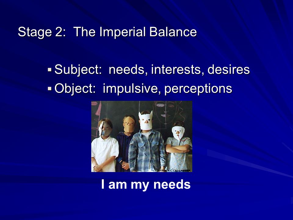 Stage 2: The Imperial Balance