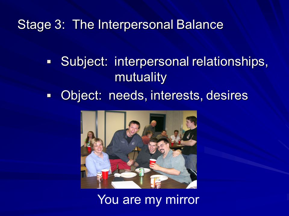 Stage 3: The Interpersonal Balance