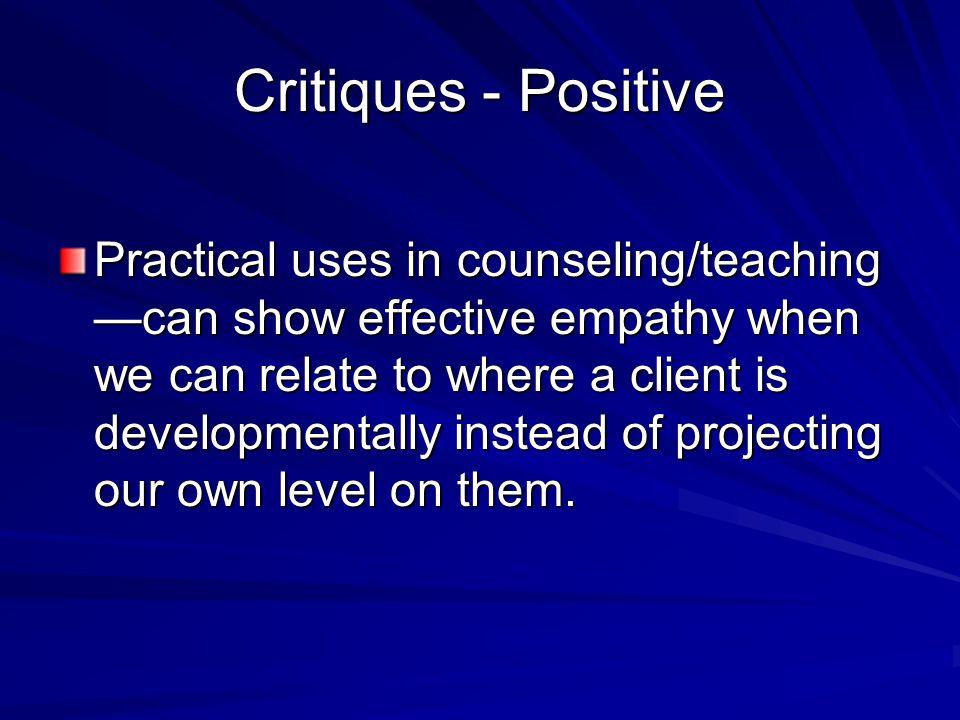 Critiques - Positive