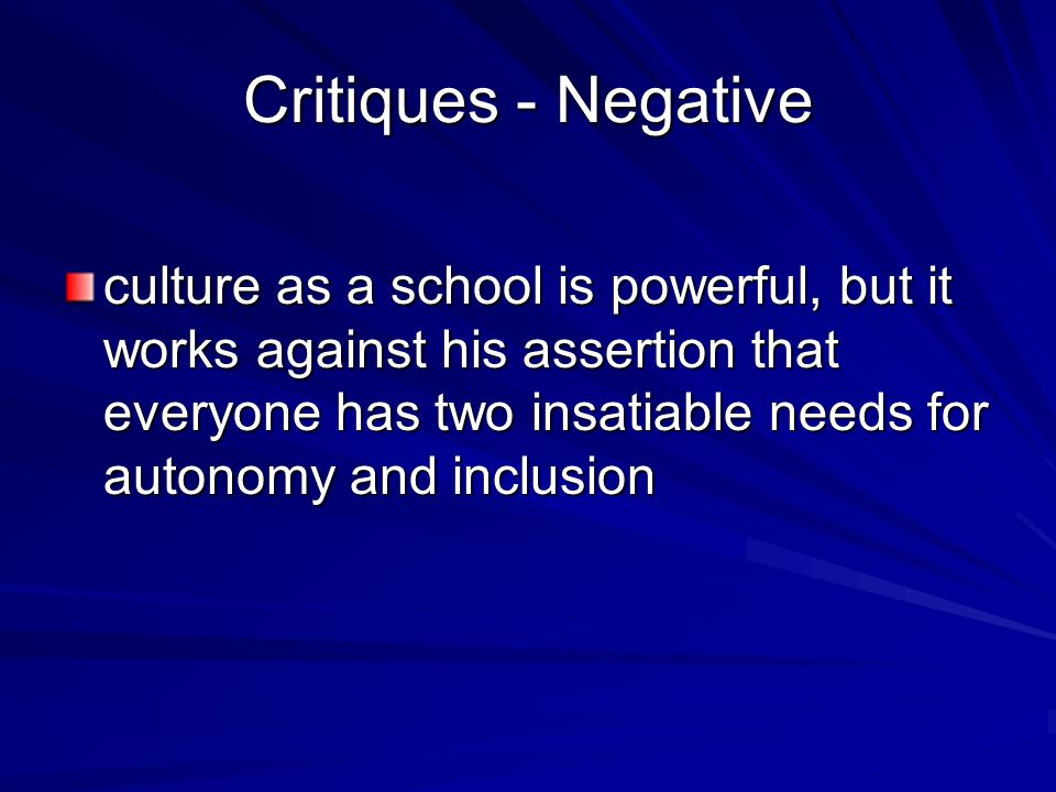 Critiques - Negative