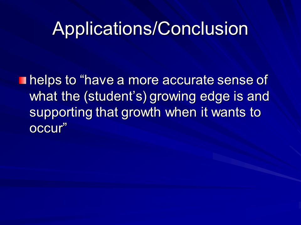 Applications/Conclusion